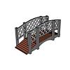 Декоративный металлический мостик для дачи